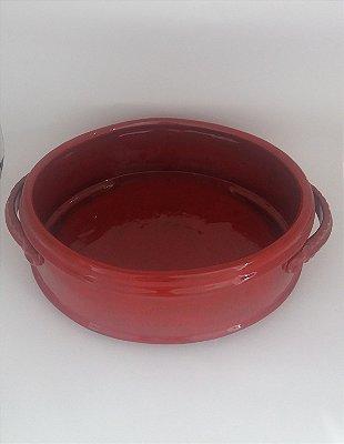 Floreira Oval Vermelho