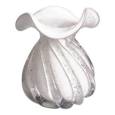 Vaso Murano Branco 16,5cm