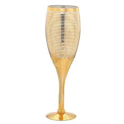 Vaso vidro Dourado 49,5cm