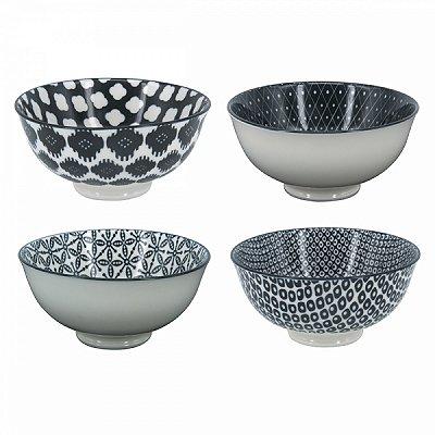 Conjunto de Bowls Preto e Branco