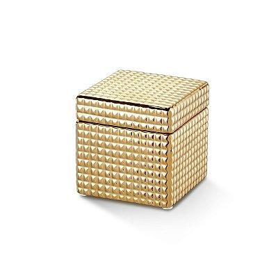 Caixinha Quadrada Dourada 13cm