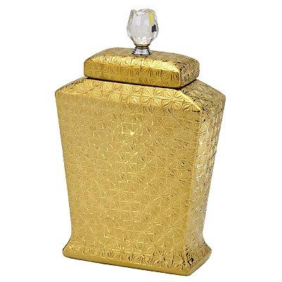 Pote Dourado Decorativo 31cm