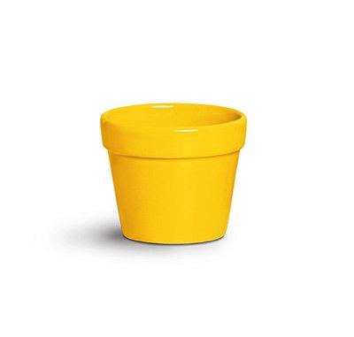 Cachepot amarelo 14,5cm