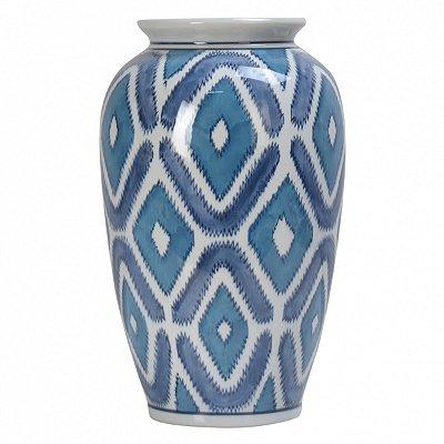 Vaso Geometrica Azul 28cm