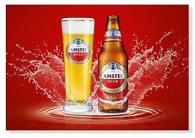 Placa Amstel Red