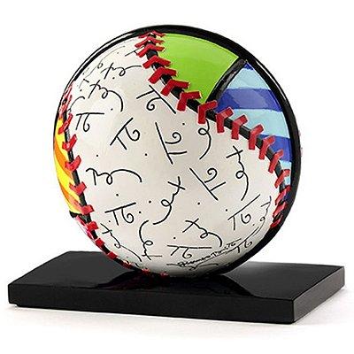 Escultura Bola Baseball - Romero Britto