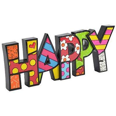 Palavra Happy - Romero Britto