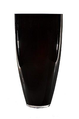 Vaso de Vidro Preto 38cm