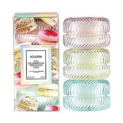 Kit 3 Mini Velas Macaron