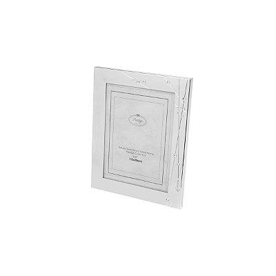 Porta Retrato Prateado com Strass 15x20cm