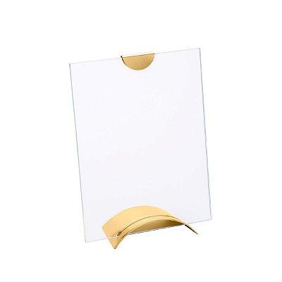 Porta Retrato de Vidro Dourado