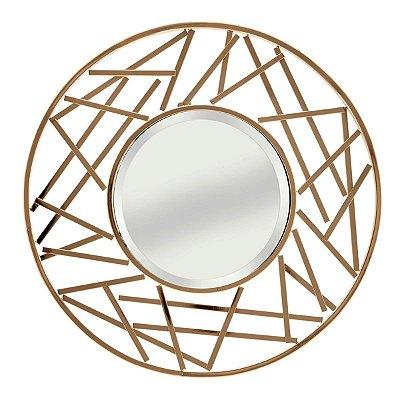 Espelho c/ Moldura Dourado
