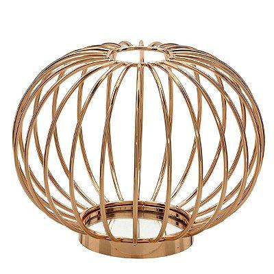 Vaso Decorativo Metal Dourado