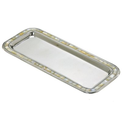 Bandeja Decorativa Metal Madrepérola 36cm