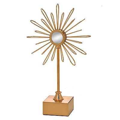 Escultura Metal Dourado