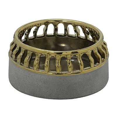 Vaso Cinza c/ Dourado II