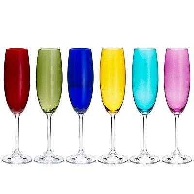 Conjunto 6 Taças p/ Champagne Sortida 220ml