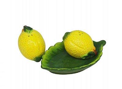 Saleiro e Pimenteiro c/ Bandeja Lemons