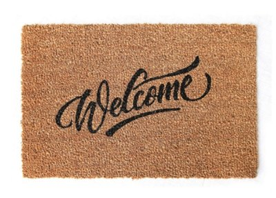 Capacho Welcome Marrom