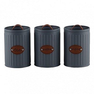 Conjunto 3 Potes Cinza BTC