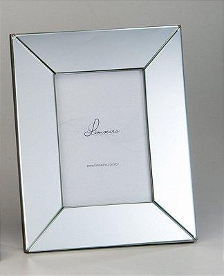 Porta Retrato Heitor Espelho Cristal 13x18cm Limoeiro