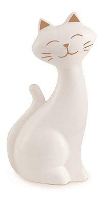 Gato Decorativo Branco 12cm Mart