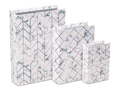 Kit Livro Caixa 3 peças Mart