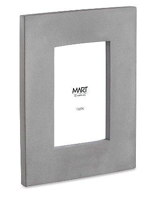 Porta Retrato em Cimento Cinza 10x15cm Mart