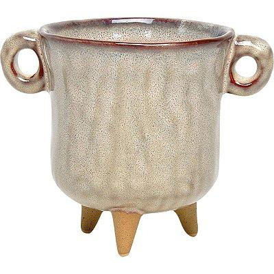 Cachepot Cerâmica Bege 13cm GS