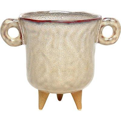 Cachepot Cerâmica Bege 17cm GS
