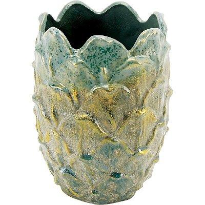 Vaso Cerâmica Verde 20cm GS