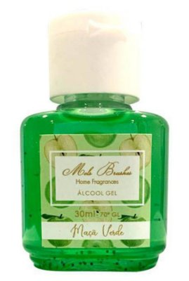 Álcool Gel Maçã Verde 30ml Mels Brushes
