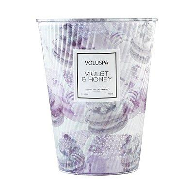 Vela Violet e Honey Lata Cone 100H Voluspa