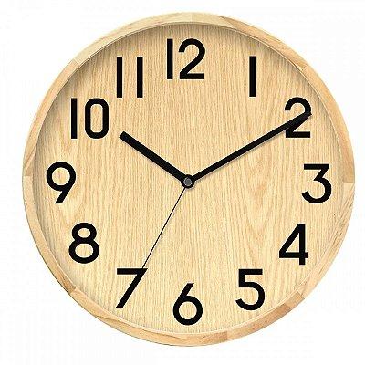 Relógio de Parede Cor Madeira BTC
