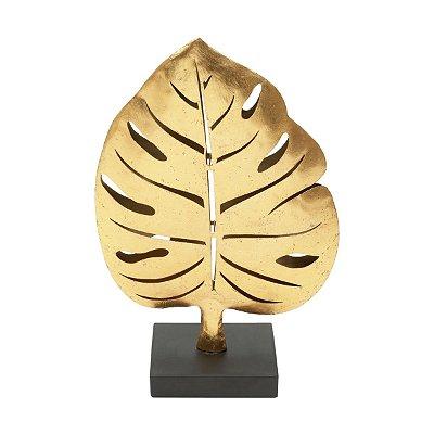 Figura Folha Dourada Decorativa Rojemac