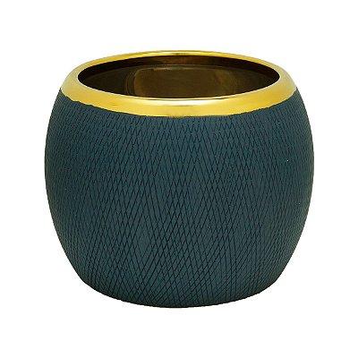 Vaso Decorativo Azul 15x12cm Rojemac