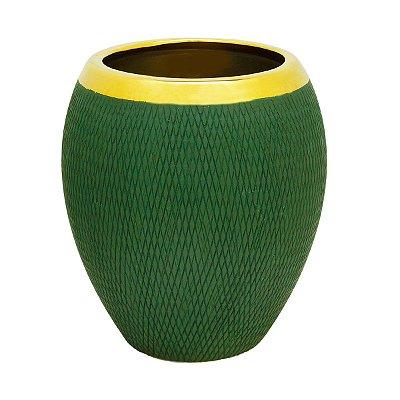 Vaso Decorativo Verde Escuro 16x18cm Rojemac