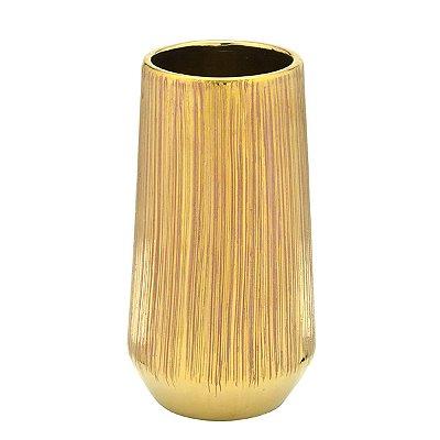 Vaso Decorativo Dourado 26cm Mabruk