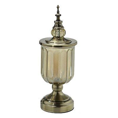 Potiche Decorativo Dourado Envelhecido 35cm Mabruk