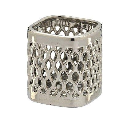 Mini Vaso Prata Decorativo Mabruk