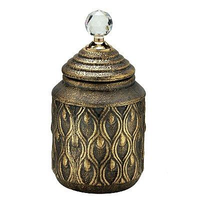 Potiche Dourado Envelhecido 26cm Mabruk