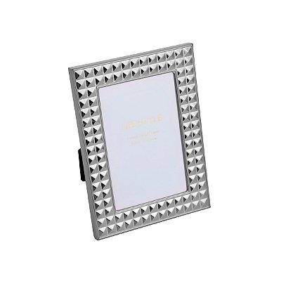 Porta Retrato Aço Diamond Prateado 13x18cm Rojemac