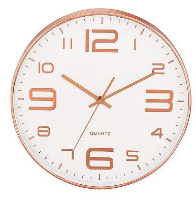 Relógio de Parede Rose Gold Mart