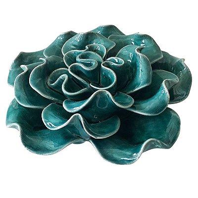Flor Decorativa Cerâmica Verde BTC