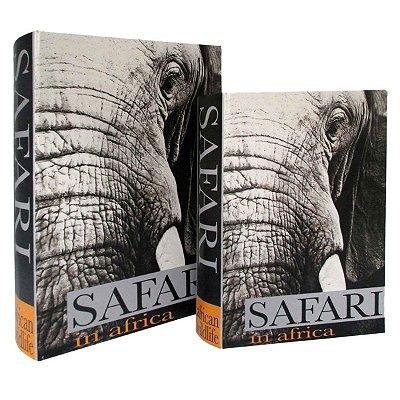 Conjunto 2 Caixas Livros Safari BTC