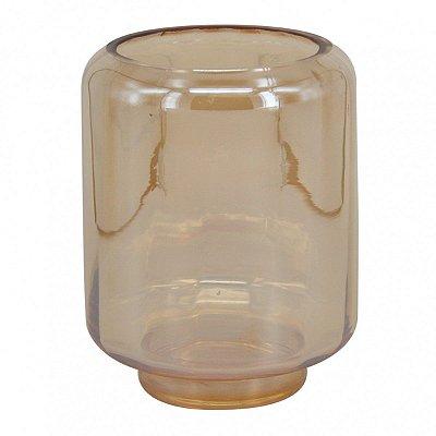 Vaso Decorativo Vidro Âmbar 16cm BTC