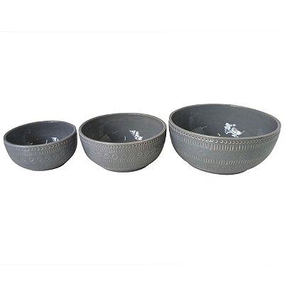 Conjunto 3 Bowls Cinza BTC