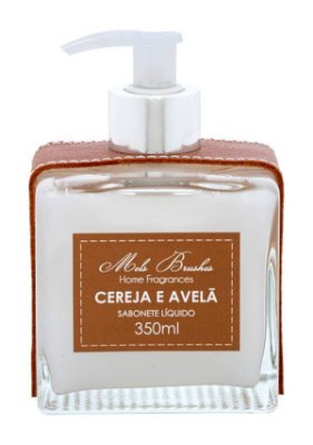 Sabonete Luxo Cereja e Avelã Couro 350ml Mels Brushes
