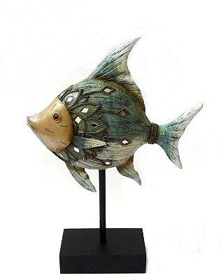 Escultura Peixe Decorativo Nataluz