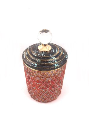 Potiche Decorativo Vermelho 25cm Nataluz